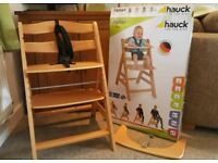 Hauck alpha + adjustable highchair