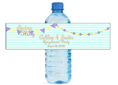 Spring Birthday Themes (100 Spring Fling Theme Wedding Birthday Party Water Bottle Labels)