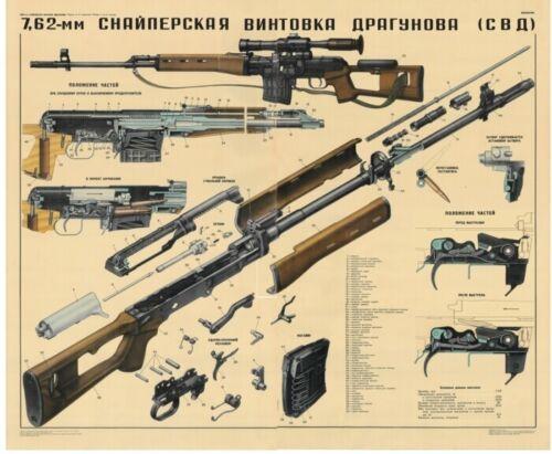 HUGE POSTER Set Soviet Russian PSO-1 Sniper Scope SVD Dragunov Sniper Rifle!