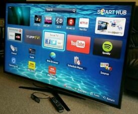 """SAMSUNG 40"""" LED FULL HD SMART TV WITH BUILT IN WiFi FREEVIEW HD, HDMI NEW CONDITION FULLY WORKING"""