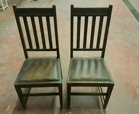 2 high back vintage chairs