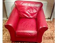 Red arm chair. Marks and Spencer. Good condition. Very comfy! Reduced