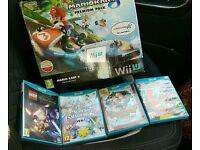 Nintendo wii u mario kart premium pack and 5 games