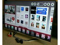 "LG 42"" Ultra-Slim LED FULL HD 3D SMART TV with Built in WiFi, Freeview HD, New Condition."
