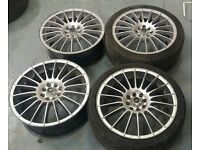 """Ace alloys 17"""" 4x100 4x108 alloy wheels + 2 tyres! Vauxhall VW Ford Citreon Renault mg"""