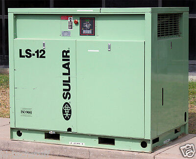 Sullair Corporation Ls-12 40l Industrial Air Compressor Ls-12-40l-acac Working