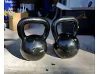 Weights (kettlebell) 20kg and 24kg