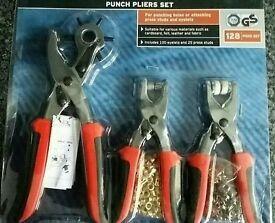 Hole punch pliers set