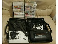 Sega master systems console & 23 boxed games