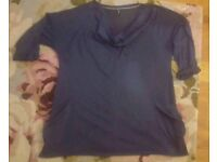 Marks and Spencer ladies blue tunic style top size 18