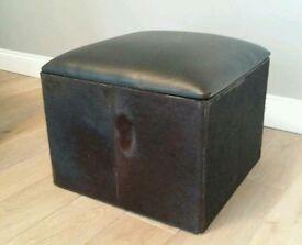 Footstool with storage 45x45
