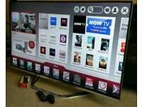 """LG 42"""" Ultra-Slim LED FULL HD CINEMA 3D SMART TV with Built in WiFi Freeview HD New Condition."""