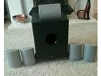 Set of home cinema speakers, 5 ELTAX surround sound speakers plus powerful GALE Sub