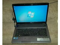 Acer 7740 laptop, core i3, 4gb ram, 320gb hdd, 17 inch