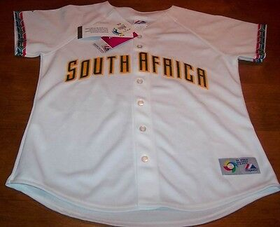 WOMEN'S SOUTH AFRICA WORLD BASEBALL CLASSIC STITCHED JERSEY MEDIUM NEW w/ TAG