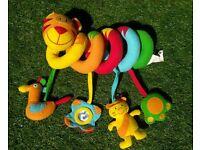 Red Kite Tiger Spiraloo - Pram Toy