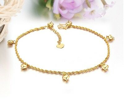 New Korean Fashion Heart Adorn 18K Gold Plated Ladies Anklet Chain Free Shipping