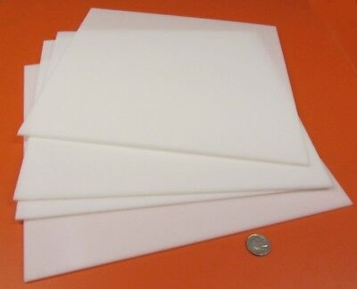 Delrin Acetal Sheet White Pom 18 .125 Thick X 12 Width X 12 Length 4 Units