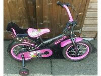 "Girls Townsend Diva 14"" Bike With Stabilisers"