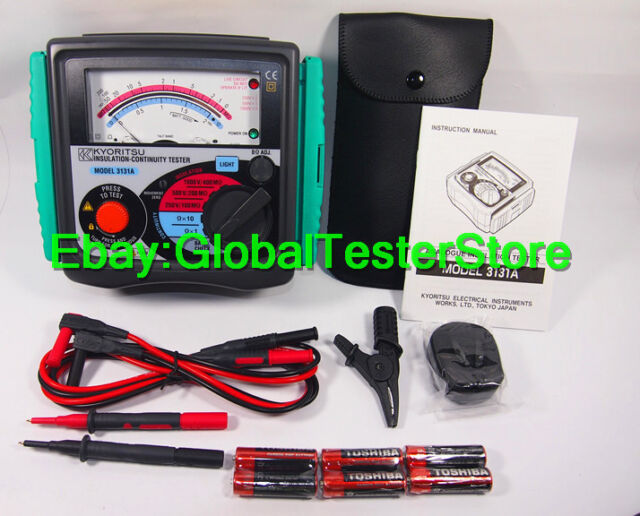 Kyoritsu 3131A Analogue Insulation and Continuity Tester Meter !!NEW!!