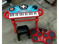 ELC keyboard and electronic drums