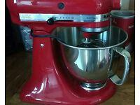 Red KitchenAid Artisan mixer