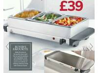 Pan Buffet server converts into hot plate