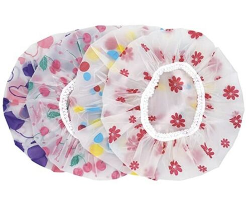 Reusable Plastic Hair Caps for Women Spa, Home Use, Hotel and Hair Salon Portab