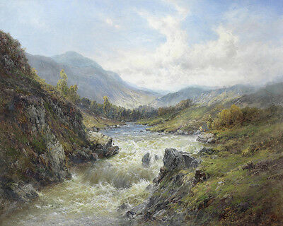 Falls Of The Tay Alfred  de Breanski   24'  CANVAS for sale  Shipping to South Africa