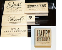 """UPDATED! Stampin' Up - """"Hostess Afterthoughts"""" 6 Wood Mount"""