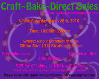 CRAFT, BAKE and DIRECT SALES March 26th LOOKING FOR VENDORS