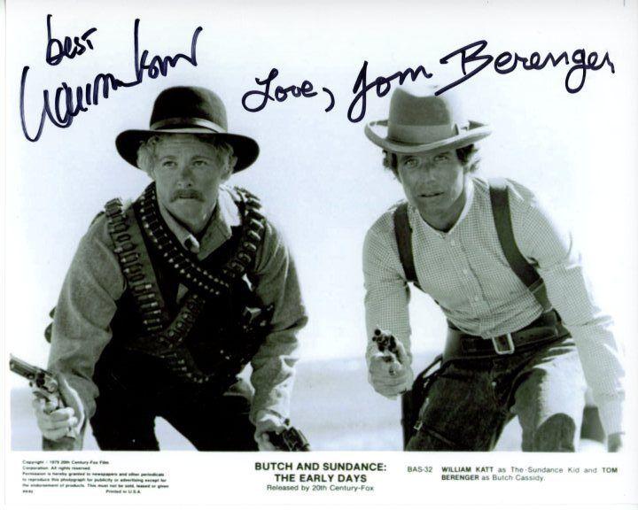 WILLIAM KATT & TOM BERENGER signed BUTCH AND SUNDANCE: THE EARLY DAYS photo
