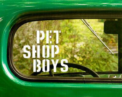Pet Shop Window (2 PET SHOP BOYS BAND DECALs Stickers Bogo For Car Truck Window Bumper)