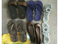 New and pre loved summer Sandals Havaianas shoes flip flops size 6