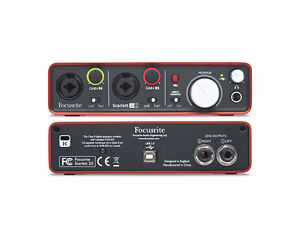 Focusrite Scarlett 2i2 2 in / 2 out USB recording Audio interface