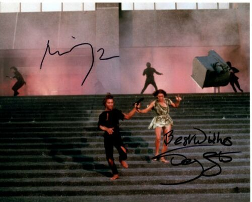 MICHAEL YORK and JENNY AGUTTER signed autographed LOGAN'S RUN photo