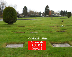 FOREST LAWN BURIAL PLOT FOR SALE: Single or Double Burial Plot.