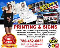 Professional Print & Sign Services for Edmonton Businesses