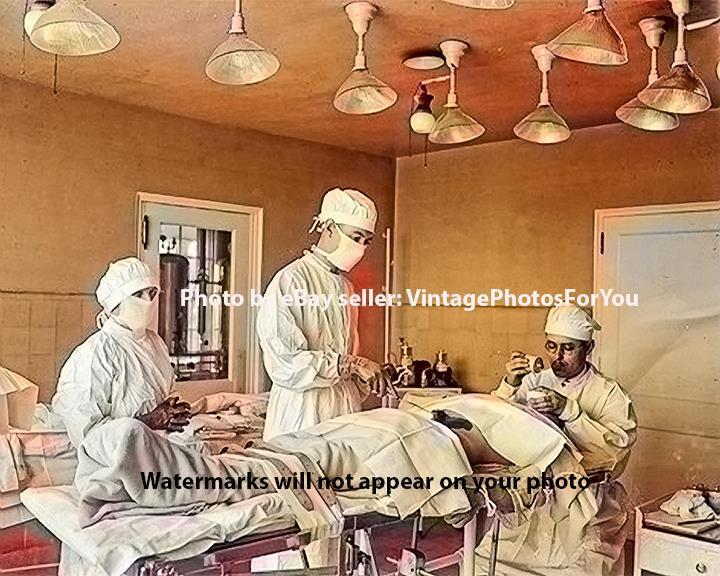 Photo of Early Operating Room Medical Equipment-Doctors-Nurses-Surgery-Wall Art