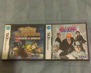 POKEMON EXPLORERS OF DARKNESS and BLEACH for NINTENDO DS