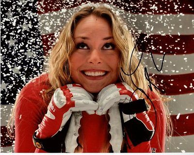 Lindsey Vonn Signed Autographed Usa Olympic Skiier Olympic Photo