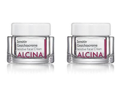 2 x Alcina Sensitiv Gesichtscreme 50 ml