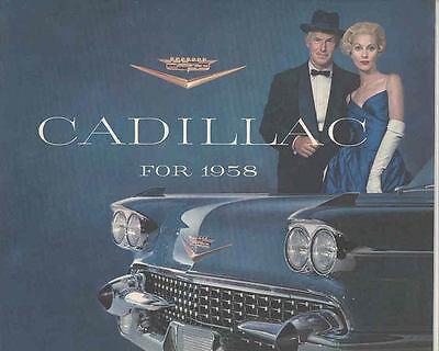 1958 Cadillac ORIGINAL Brochure Eldorado Brougham Biarritz Convertible mx2913