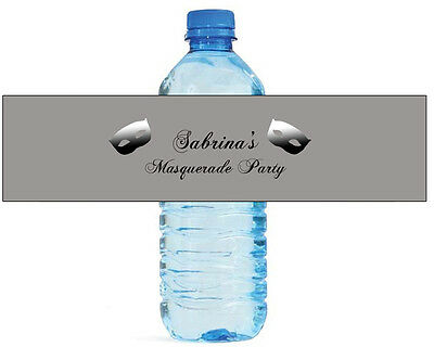 Water Bottle Costume (100 Masquerade Party Water Bottle Labels Anniversary Birthday Soiree costume)