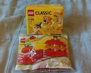 Lego Classic Lion Airplane Orange Creativity Box and Duplo Apple