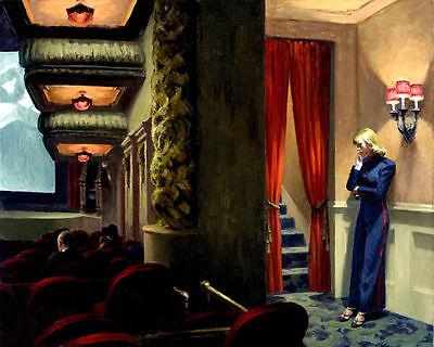 Edward Hopper New York Movie High Resolution Real Canvas Print