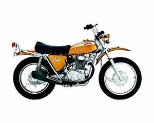 1970 Honda SL350 Motorcycle Automobile Photo Poster zc262-G83U5V