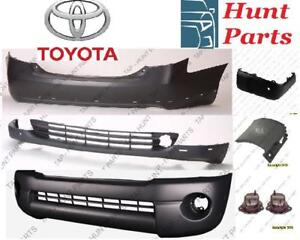 Toyota Sienna 2011 2012 2013 2014 2015 2016 2017 Front Rear Bumper Cover Absorber Bracket Rebar Support