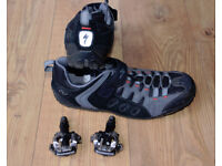 Specialized Tahoe MTB Cycling Shoes with Shimano SPD pedals
