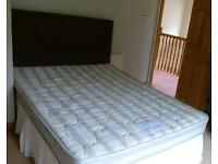 Double bed and wardrobe for sale